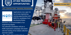 NORI at-sea engineering training 2021